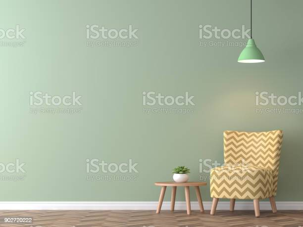 Modern vintage living room with green wall 3d rendering image picture id902720222?b=1&k=6&m=902720222&s=612x612&h=v0xlxyvoqrqepzw2bzprkrwqot9rwpd0svksuni  sg=