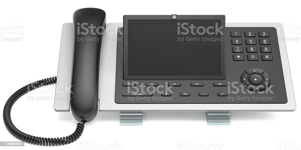 Modern VoIP Office Phone royalty-free stock photo