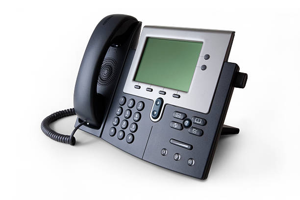 Modern VoIP Telephone stock photo