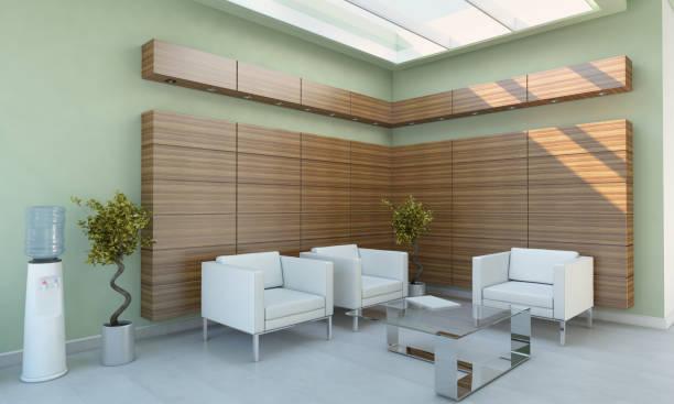 modernen wartebereich / lobby innenszene - betriebseinrichtungen stock-fotos und bilder