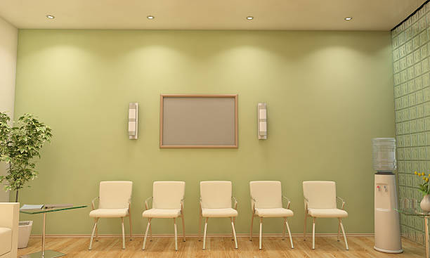 Modern Waiting Room / Lobby Interior Scene With Blank Frame ストックフォト
