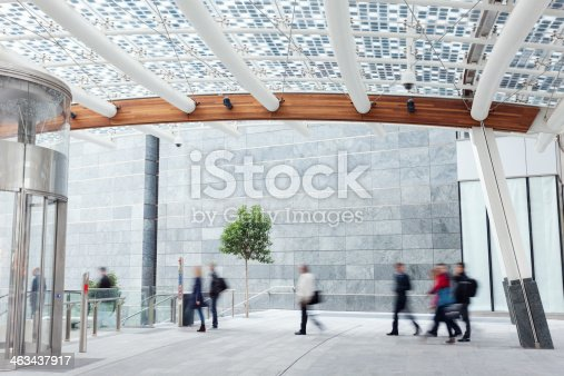 istock Modern Walkway in Financial District 463437917