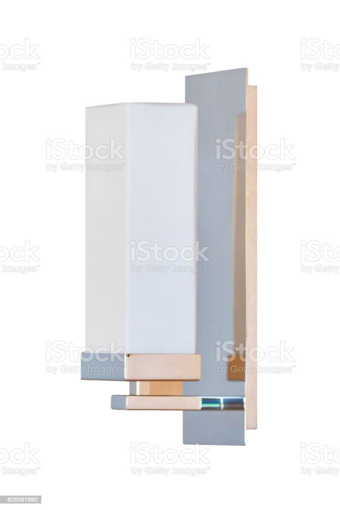 Modern wall lamp stock photo