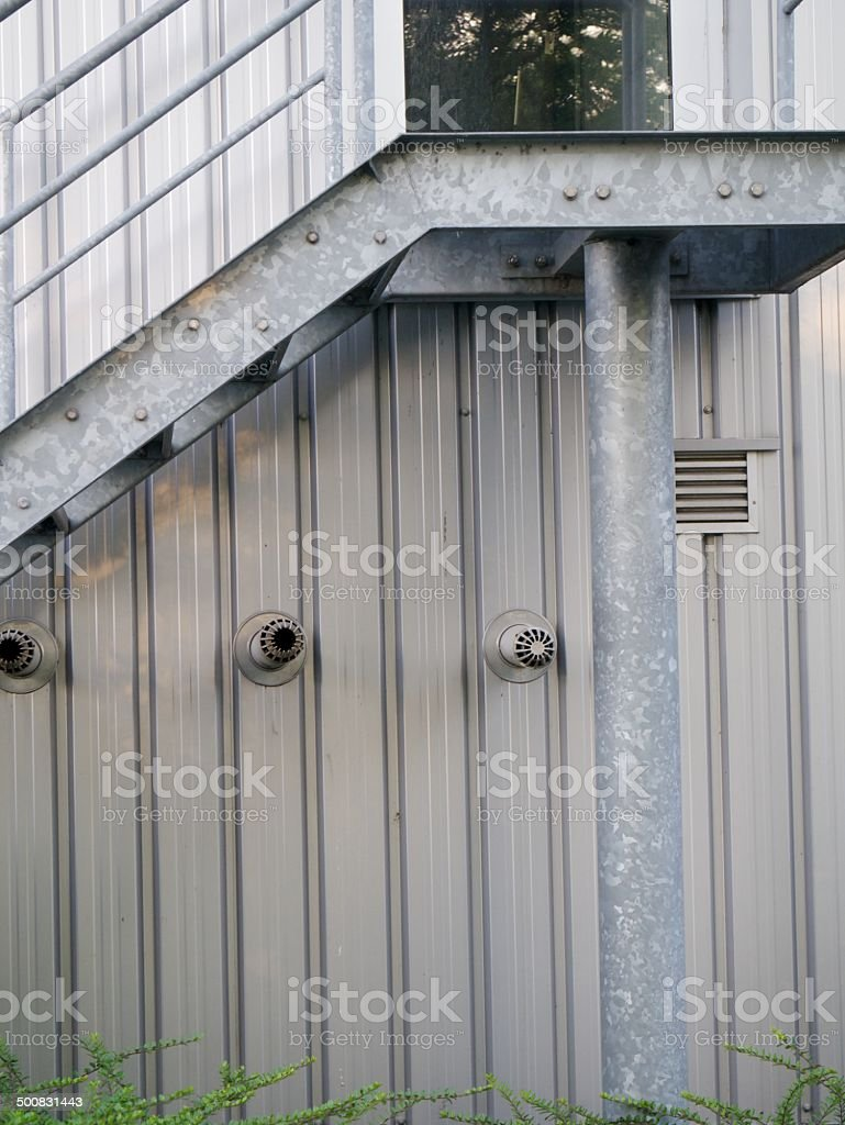 modern wall metal royalty-free stock photo