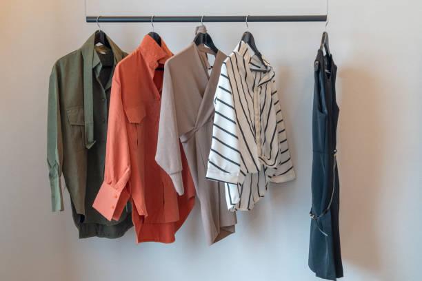 modern wardrobe stock photo