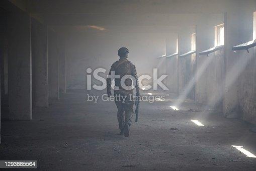 istock modern warfare soldier in urban environment 1293885564
