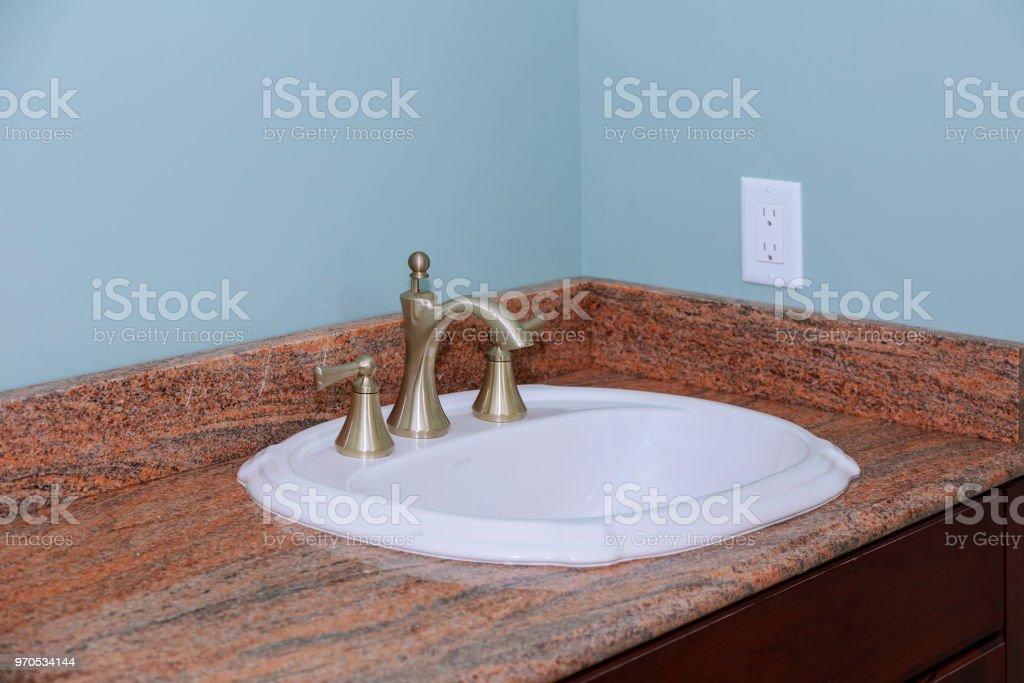 Modern Wash Basin Sink Counter Of Bathroom Interior Stock Photo Download Image Now Istock