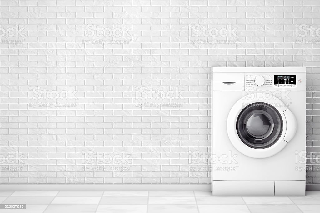 Modern Washing Machine. 3d Rendering stock photo