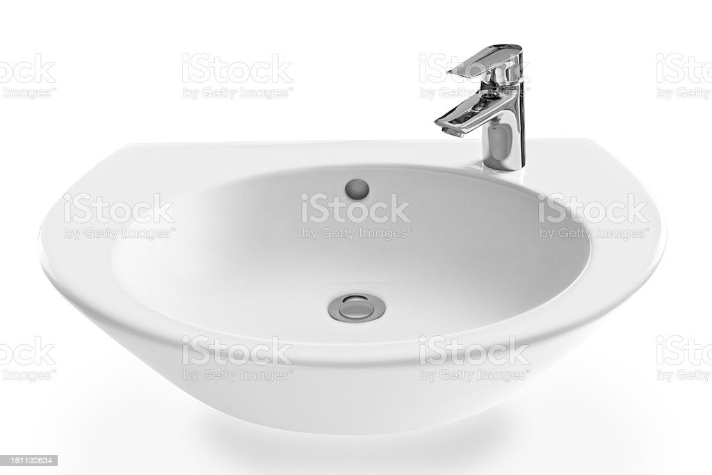 modern wash-stand and faucet stock photo