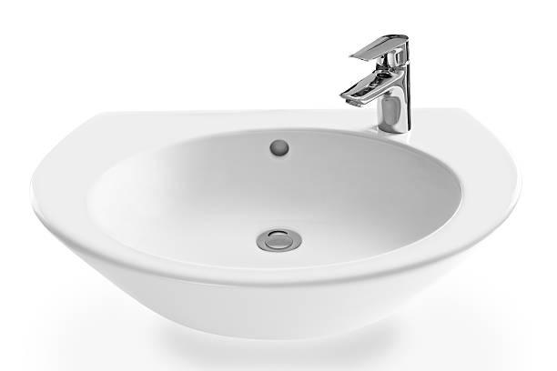 moderno di lavaggio-stand e rubinetto - bacinella metallica foto e immagini stock