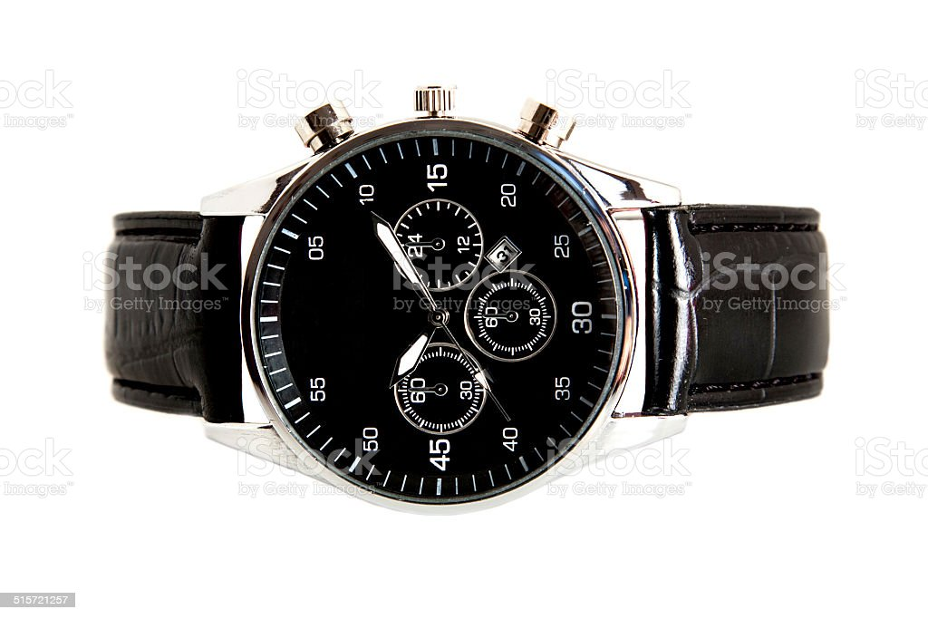 modern watch isolated on a white background stock photo