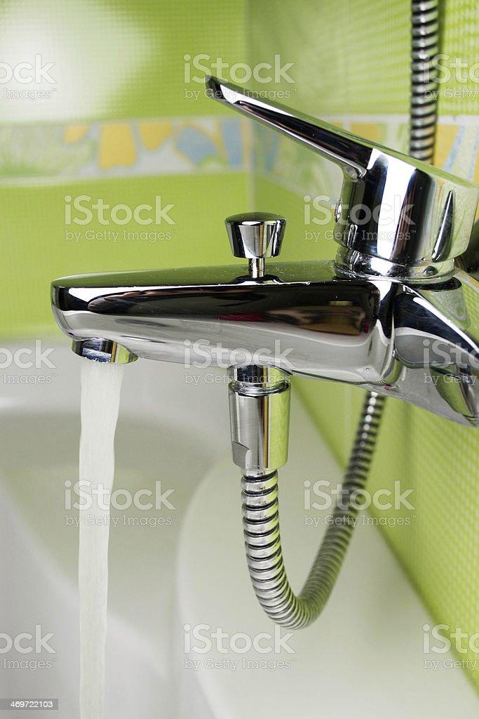 Modern water tap stock photo