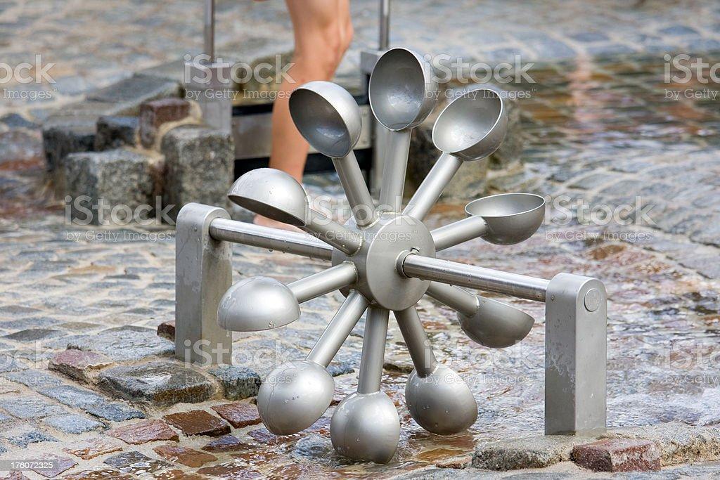 modern waterwheel stock photo