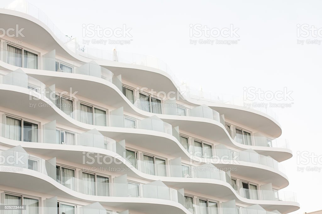 Modern Wave Balcony stock photo