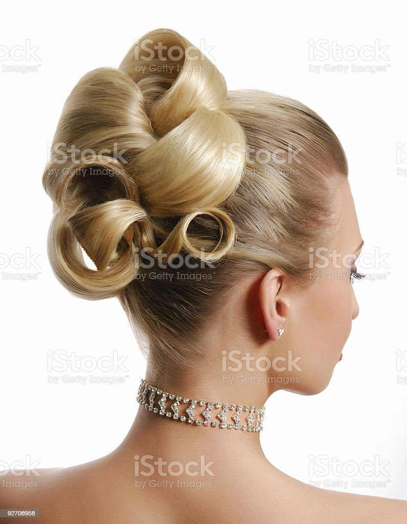 Modern wedding hairstyle royalty-free stock photo