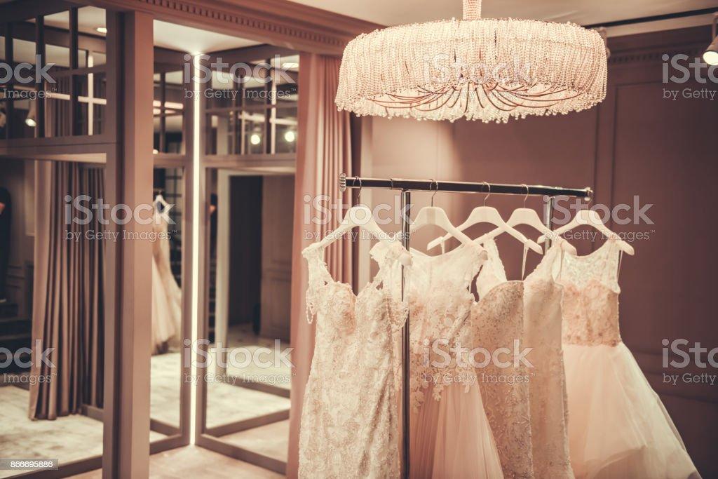 Modern wedding salon stock photo