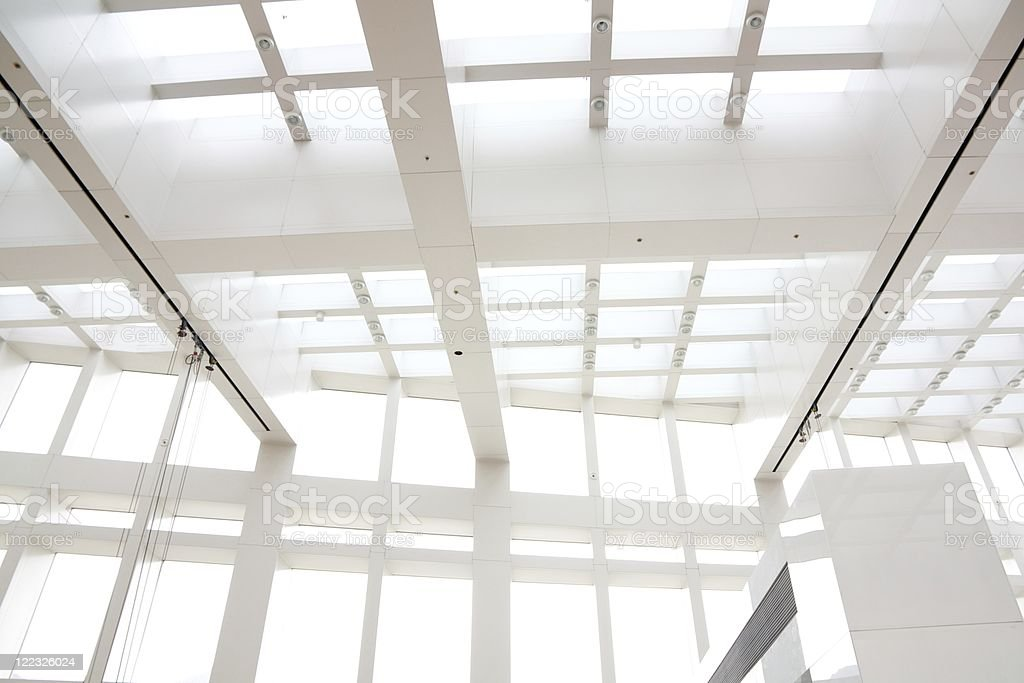 Modern White Architectural Abstract royalty-free stock photo