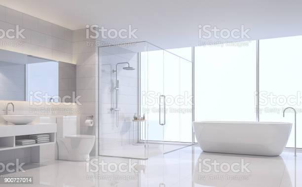 Modern white bathroom 3d rendering image picture id900727014?b=1&k=6&m=900727014&s=612x612&h=si1jcfetbmg8egyc8sg1b4yxivsdmul2anwfss9unwi=