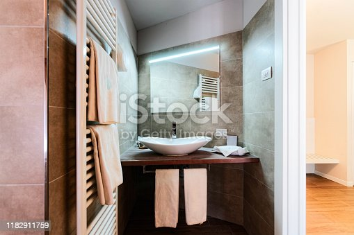 800987054istockphoto Modern white Bathroom design and luxury interior Italy 1182911759