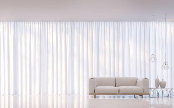 현대 백색 침실 최소한의 스타일 3d 렌더링 이미지 - 반투명한 뉴스 사진 이미지