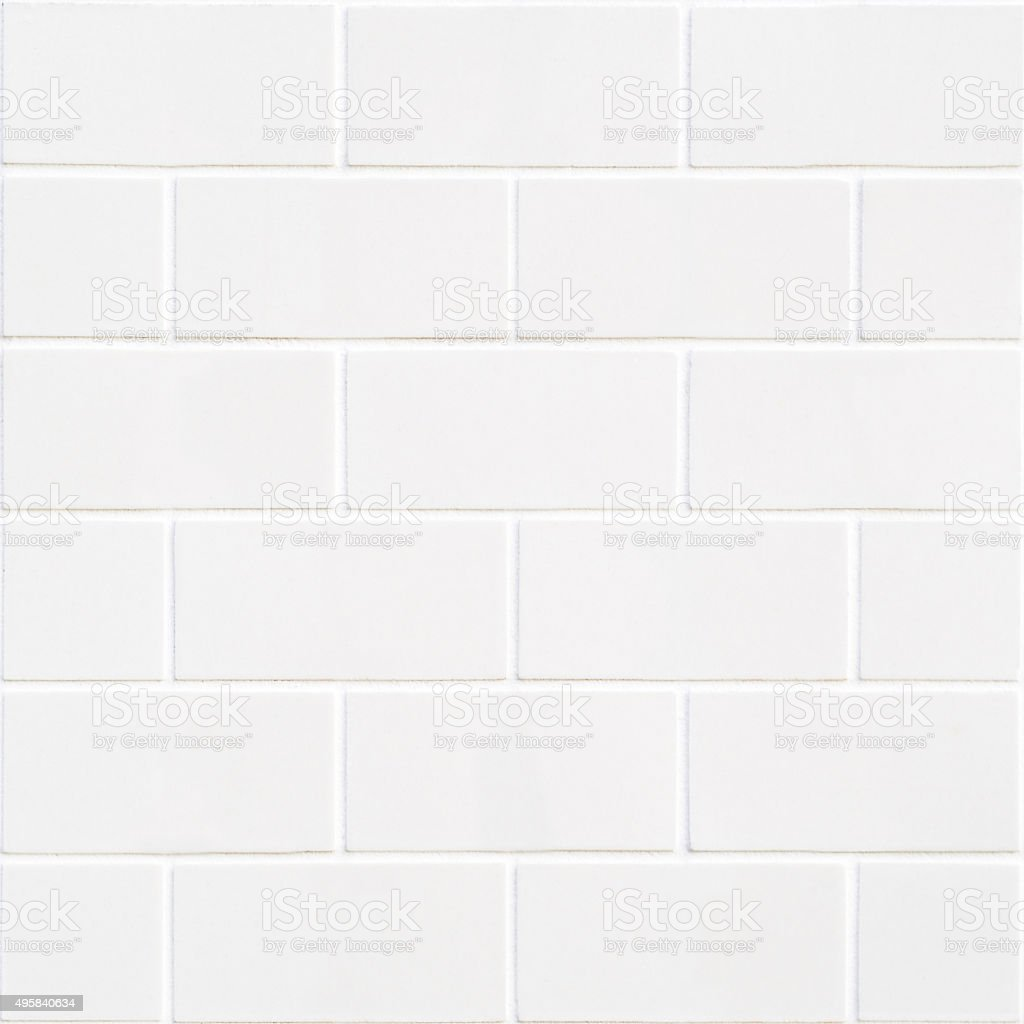 modern white bricks mosaic stock photo