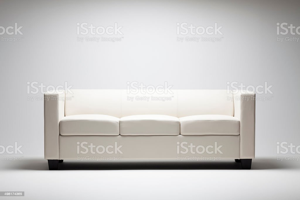 Modern White Couch stock photo