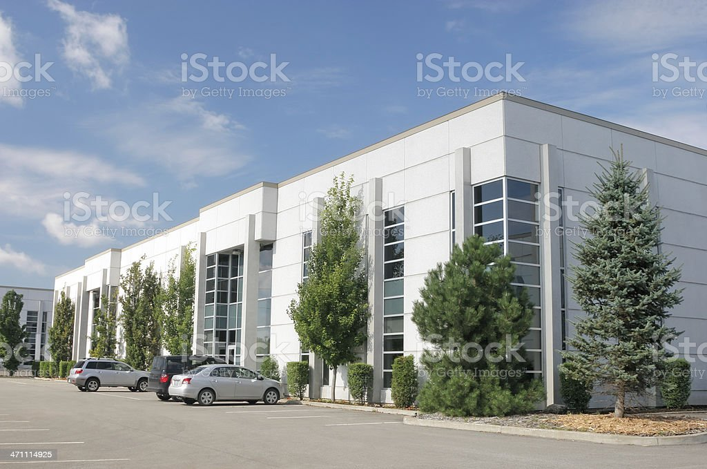 Modern White Industrial Building royalty-free stock photo
