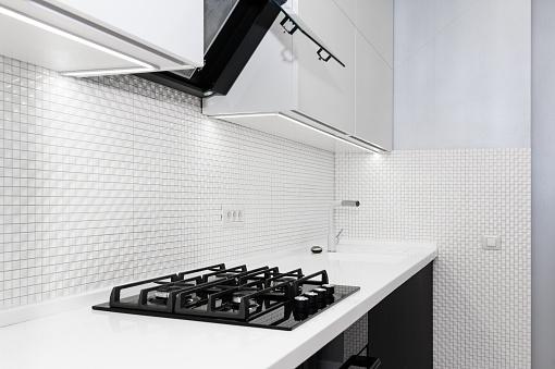 Modern White Kitchen Stock Photo - Download Image Now