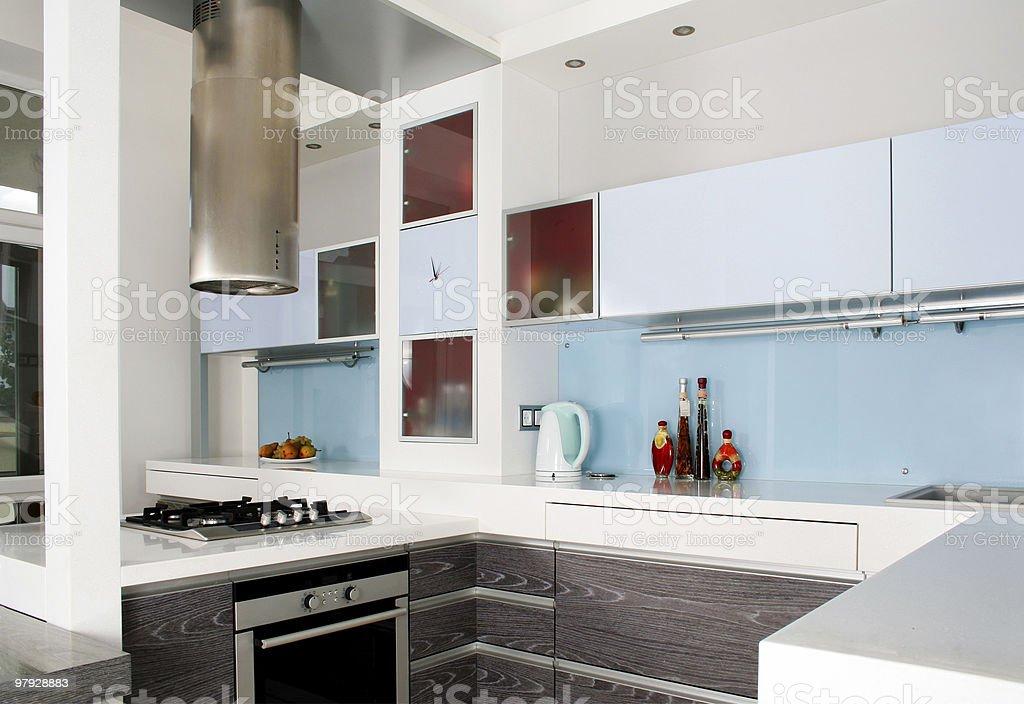 Modern white kitchen royalty-free stock photo