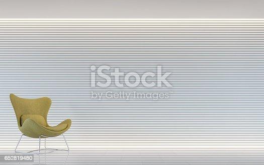 658604764 istock photo Modern white living room interior 3d rendering image 652819480