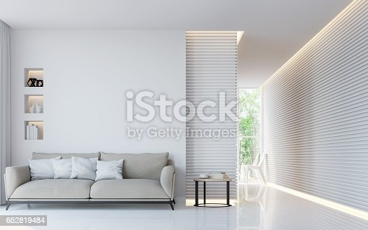 istock Modern white living room interior 3d rendering image 652819484