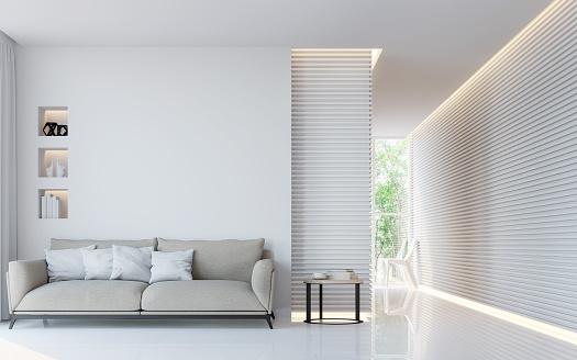 istock Modern white living room interior 3d rendering image 652819484