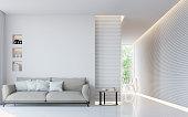 モダンな白いリビング ルーム インテリア 3 d レンダリング画像