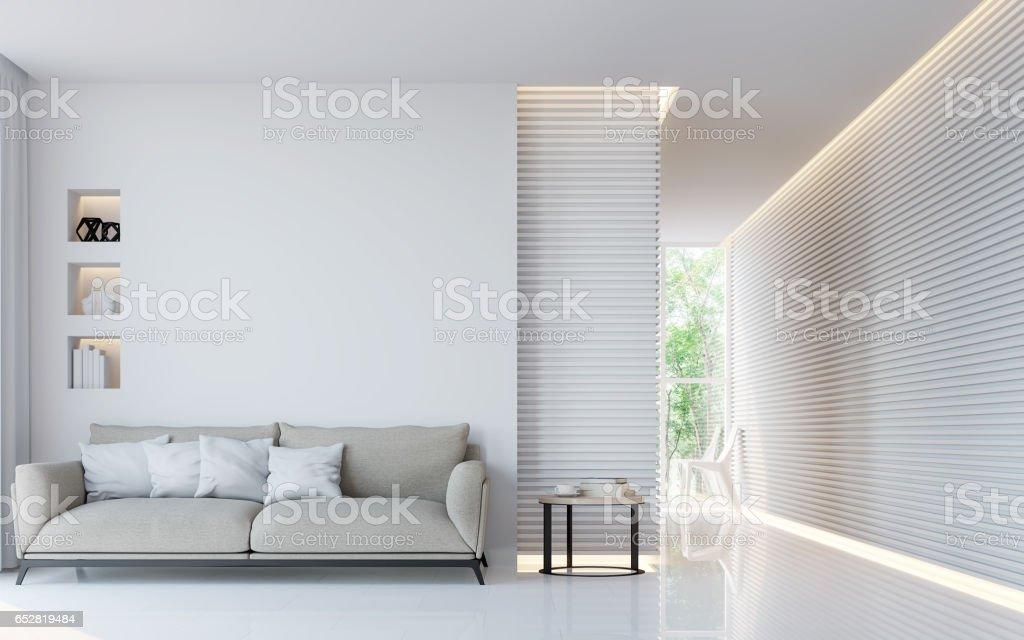 Imagem de renderização moderna sala branca interior 3d - foto de acervo