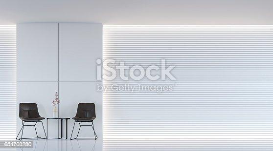658604764 istock photo Modern white living room interior 3d rendering image 654703280