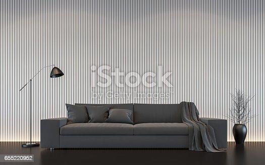 658604764 istock photo Modern white living room interior 3d rendering image 655220952