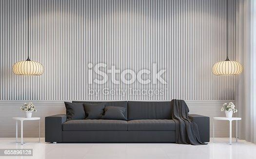 658604764 istock photo Modern white living room interior 3d rendering image 655896128