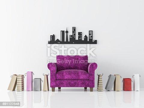 902720222istockphoto Modern white living room interior minimalist style image 3d rendering 691122548