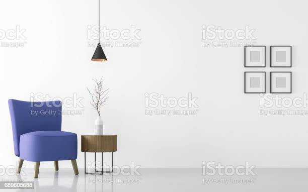 Modern white living room interior with blue armchair 3d rendering picture id689608688?b=1&k=6&m=689608688&s=612x612&h=q8hbronm vkgpslfgsi8skq28ecysyyjv qnvnt fy8=