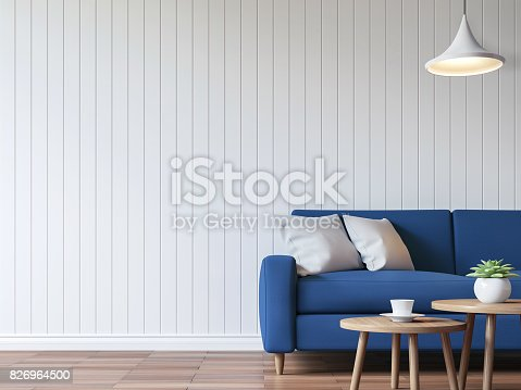istock Modern white living room vintage style  3d rendering image 826964500