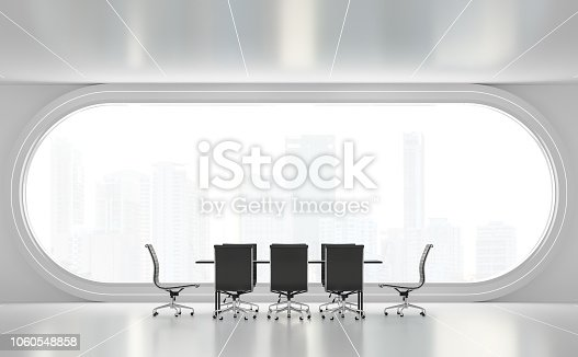 istock Modern white meeting room 3d render 1060548858