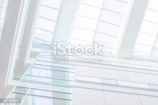 istock Modern white office made of glass 187330622