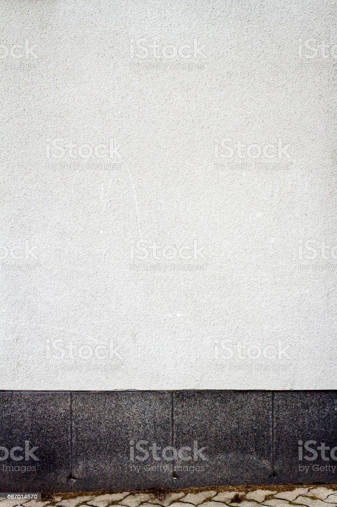 Modern white plaster street wall Lizenzfreies stock-foto