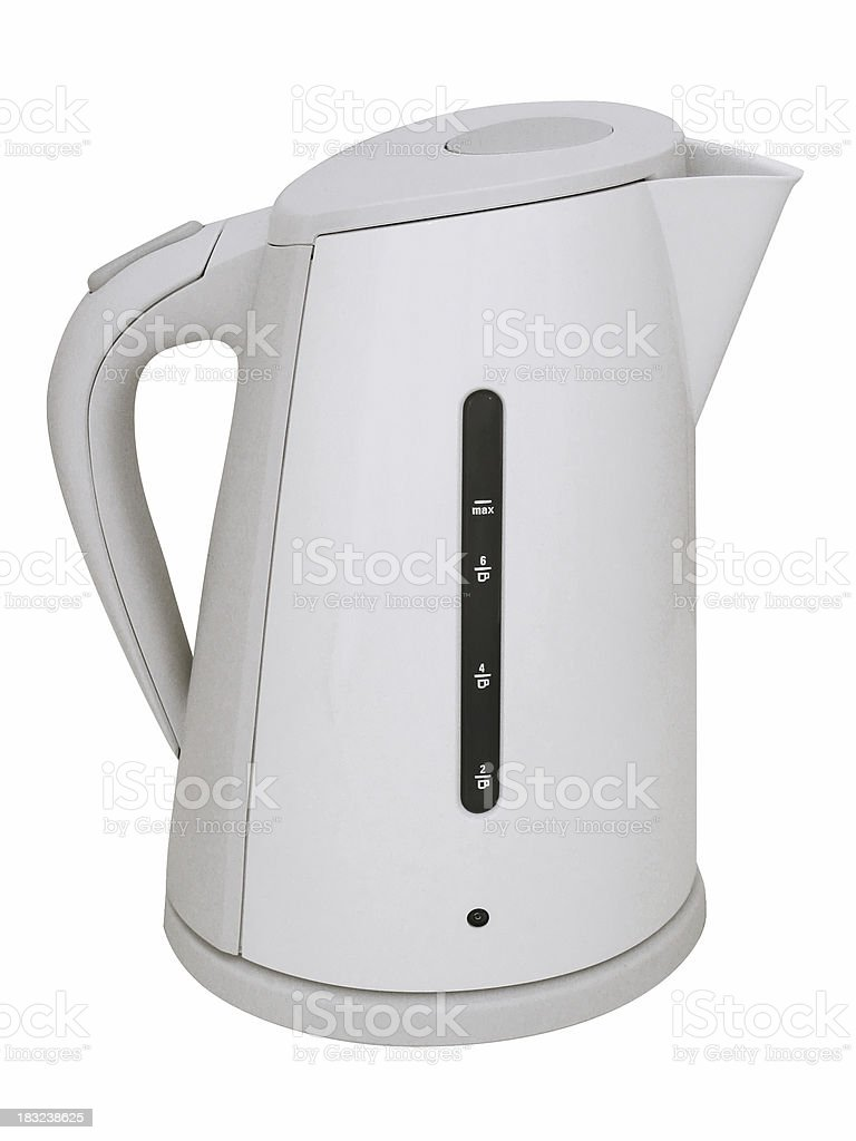 Modern White Plastic Upright Kettle royalty-free stock photo