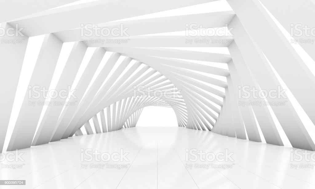 Moderne witte kamer achtergrond rechthoekige twist versieren