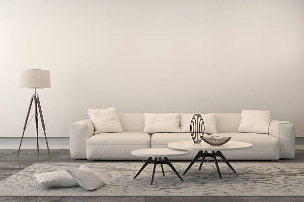 Modern white sofa in a living room stock photo. Living Room Pictures  Images and Stock Photos   iStock