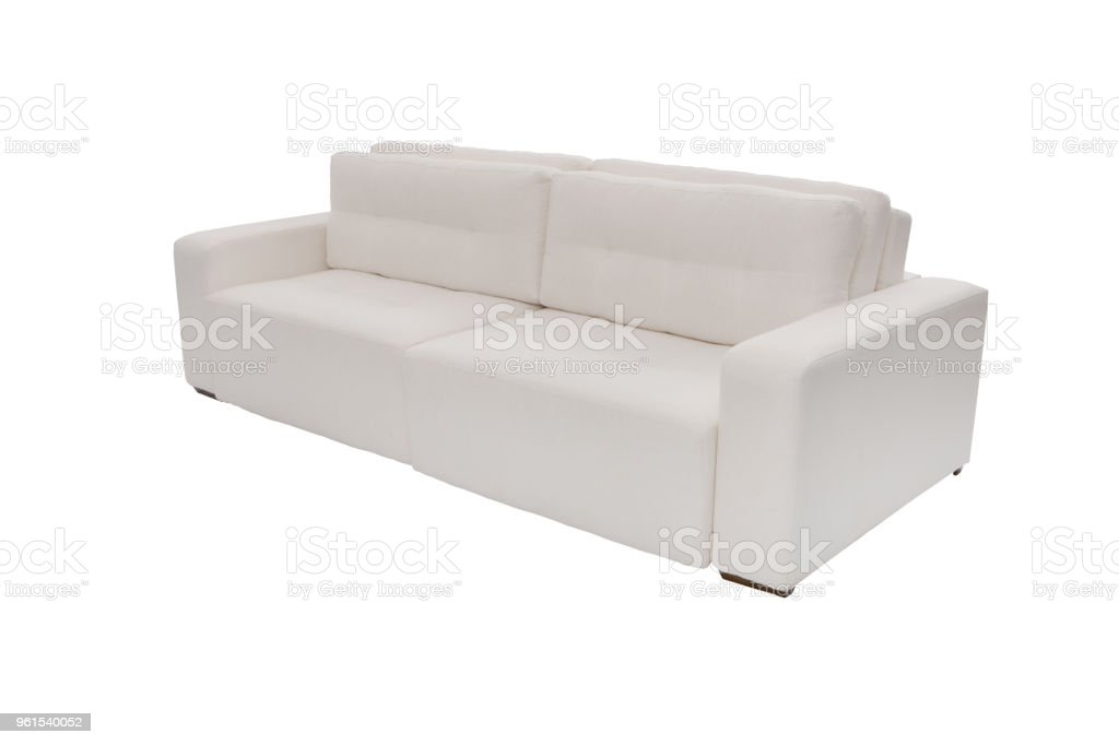 Enjoyable Modern White Suede Couch Sofa Isolated On White Background Alphanode Cool Chair Designs And Ideas Alphanodeonline