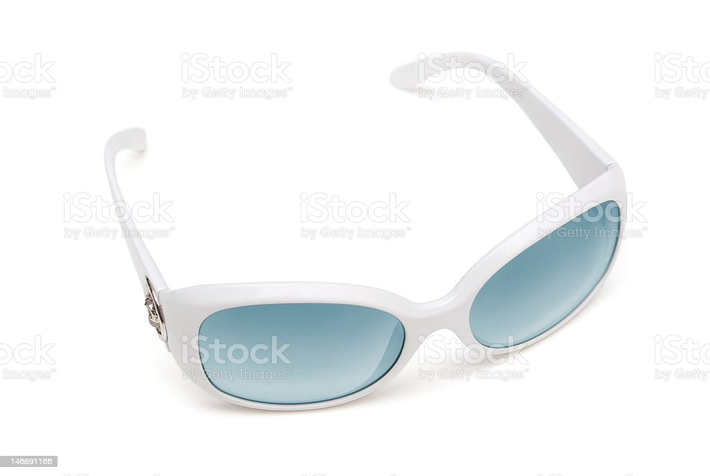 Modern white sunglasses stock photo