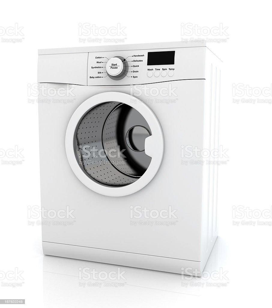 Modern white washing machine appliance royalty-free stock photo
