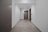 corridor, interior doors, grey, white, modern, slovenia